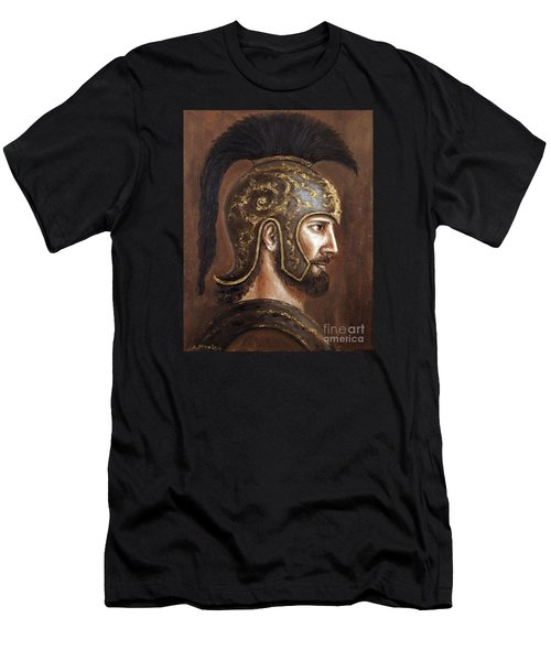 Men's T-Shirt (Slim Fit) featuring the painting Hector by Arturas Slapsys