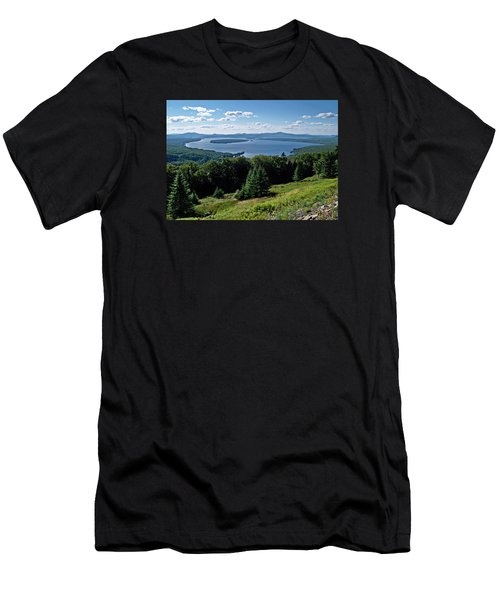 Height Of The Land Overlooking Mooselookmeguntic Lake Men's T-Shirt (Slim Fit) by Joy Nichols