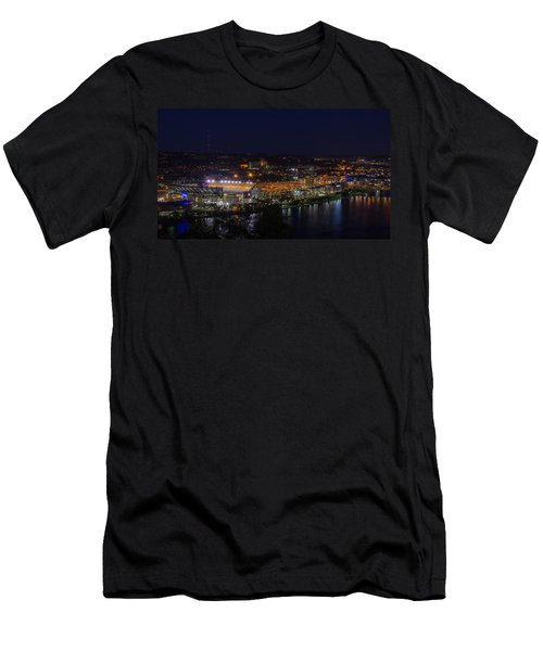 Heinz Field At Night From Mt Washington Men's T-Shirt (Athletic Fit)