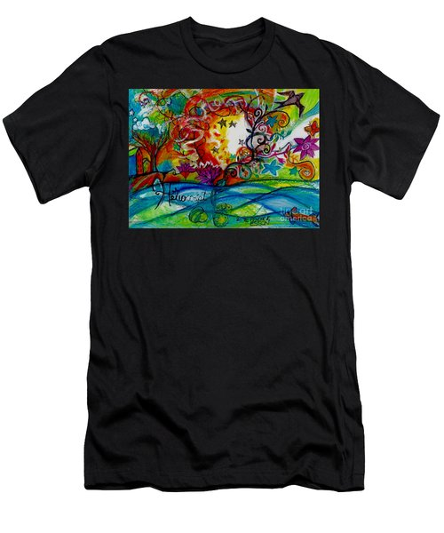 Men's T-Shirt (Slim Fit) featuring the painting Helios And Ophelia  by Genevieve Esson