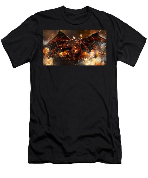 Hellborn Dragon Men's T-Shirt (Athletic Fit)