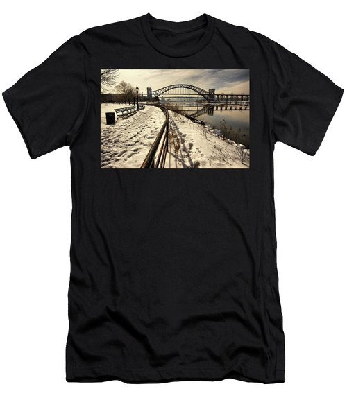Hellgate Bridge In Winter Men's T-Shirt (Athletic Fit)
