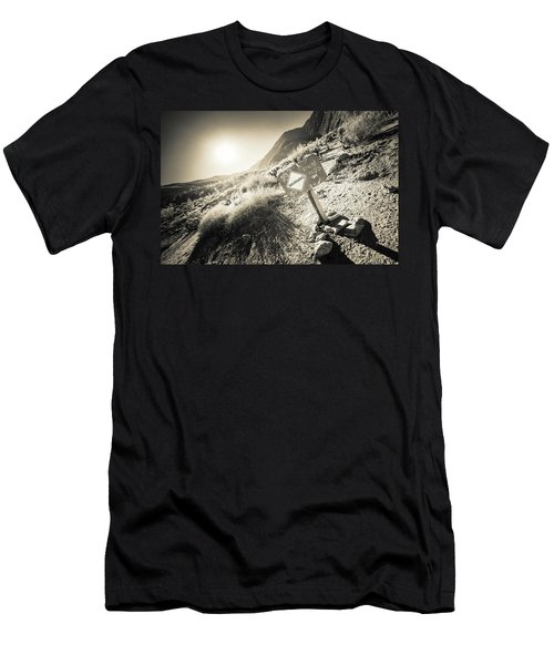 Hellhole Canyon Warning Men's T-Shirt (Athletic Fit)
