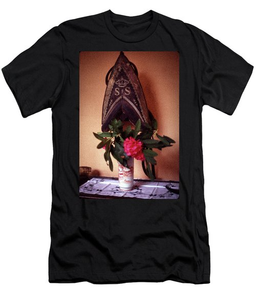 Helmet And Flower Men's T-Shirt (Athletic Fit)