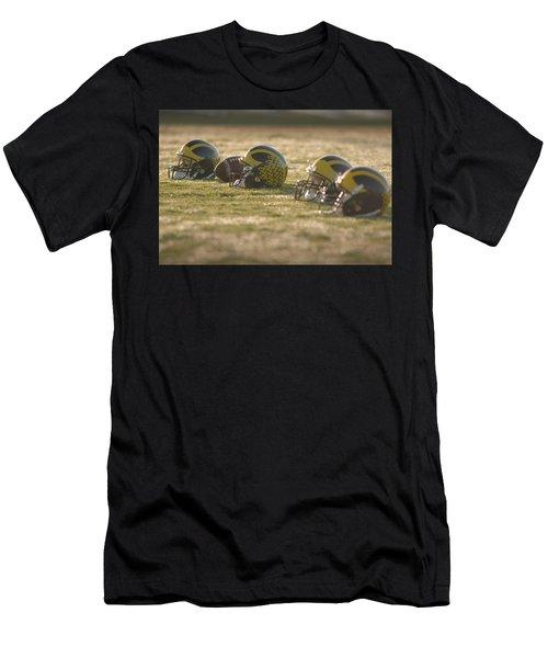 Helmets In Golden Dawn Sunlight Men's T-Shirt (Athletic Fit)