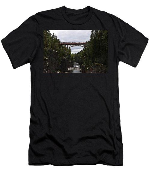 Helvetefallet Dalarna Sweden Men's T-Shirt (Athletic Fit)
