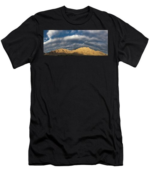 Men's T-Shirt (Athletic Fit) featuring the photograph Hemis Panorama, Karu, 2005 by Hitendra SINKAR