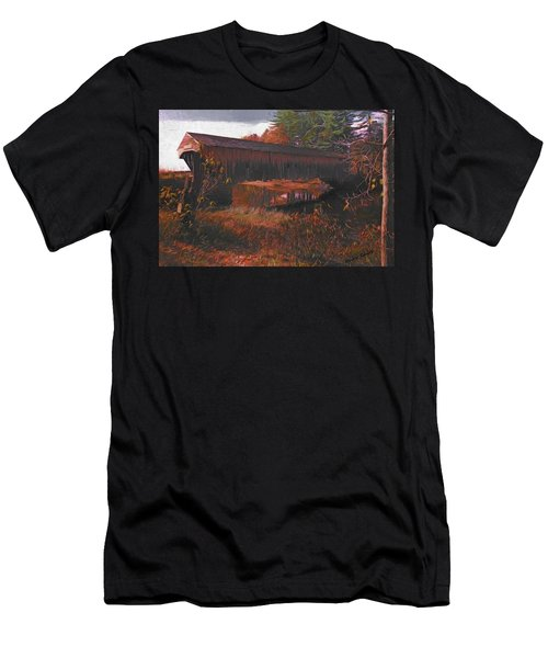 Hemlock Covered Bridge Men's T-Shirt (Athletic Fit)
