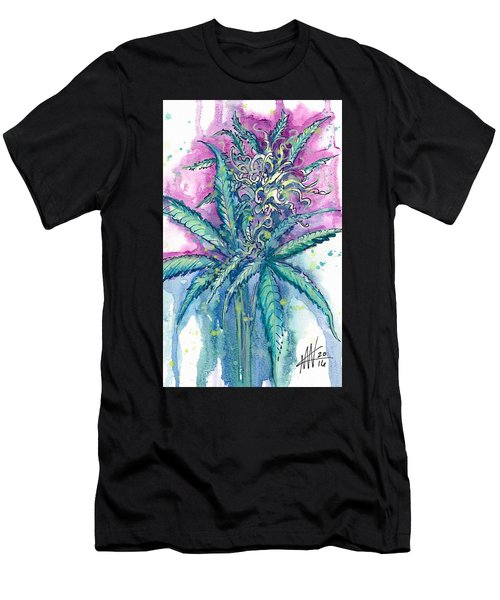Men's T-Shirt (Athletic Fit) featuring the painting Hemp Blossom by Ashley Kujan