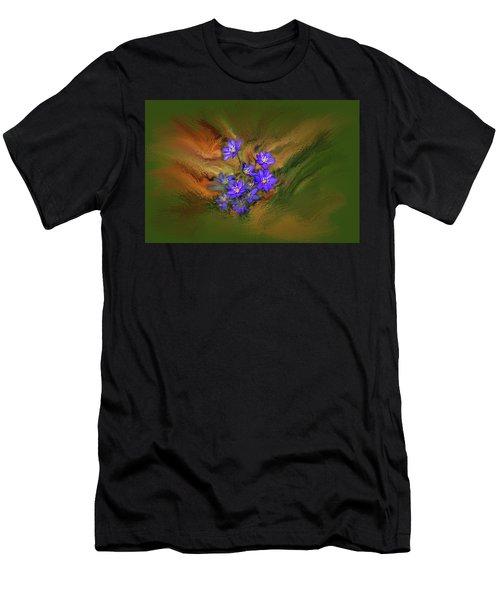 Hepatica Nobilis Painterly #h4 Men's T-Shirt (Athletic Fit)