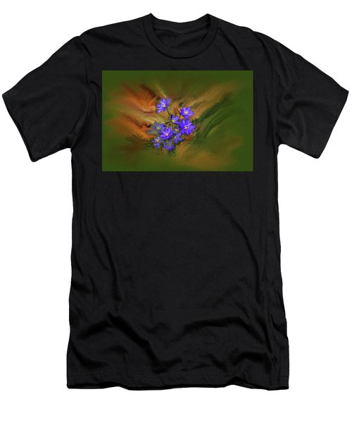 Hepatica Nobilis Painterly #h4 Men's T-Shirt (Athletic Fit)