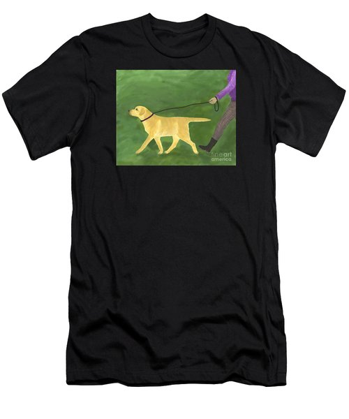 Her Dog Took Her Everywhere Men's T-Shirt (Athletic Fit)