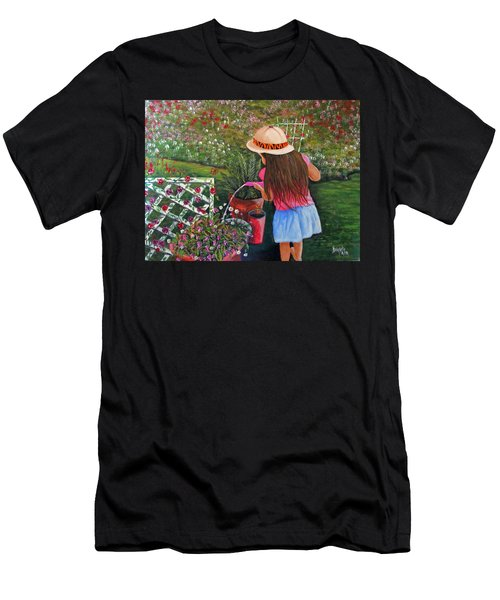 Her Secret Garden Men's T-Shirt (Athletic Fit)