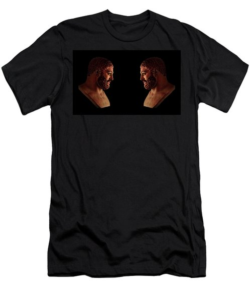 Men's T-Shirt (Athletic Fit) featuring the mixed media Hercules - Brunettes by Shawn Dall