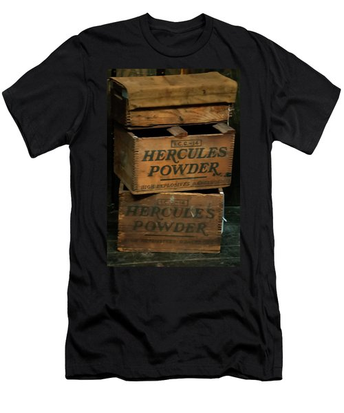 Men's T-Shirt (Athletic Fit) featuring the photograph Hercules Dynamite Crates by Chris Flees