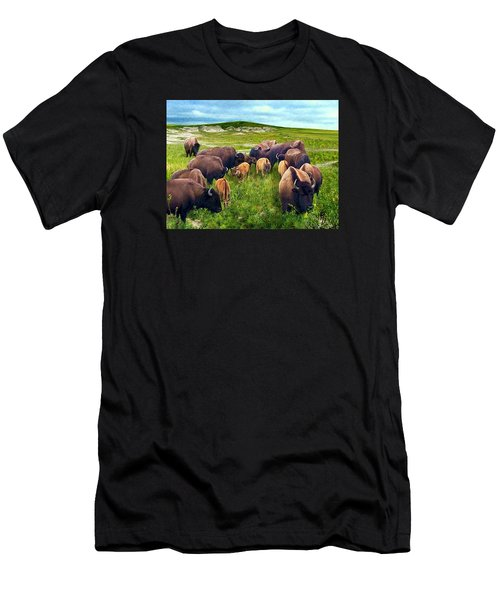 Herd Hierarchy Men's T-Shirt (Slim Fit) by Ric Darrell