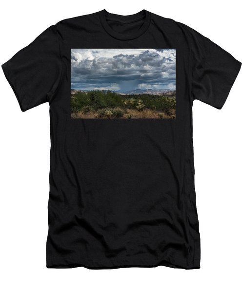 Men's T-Shirt (Athletic Fit) featuring the photograph Here Comes The Rain Again by Saija Lehtonen