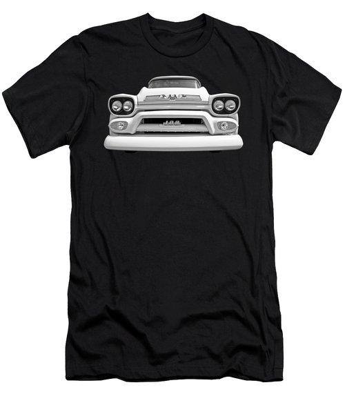 Here Comes The Sun - Gmc 100 Pickup 1958 Black And White Men's T-Shirt (Athletic Fit)