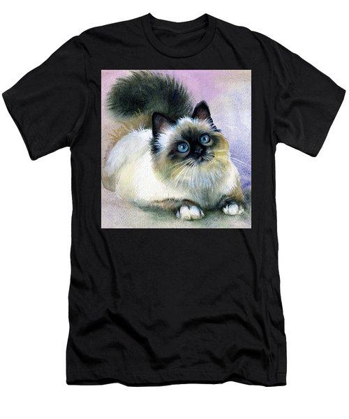 Here Kitty Men's T-Shirt (Slim Fit) by Karen Showell