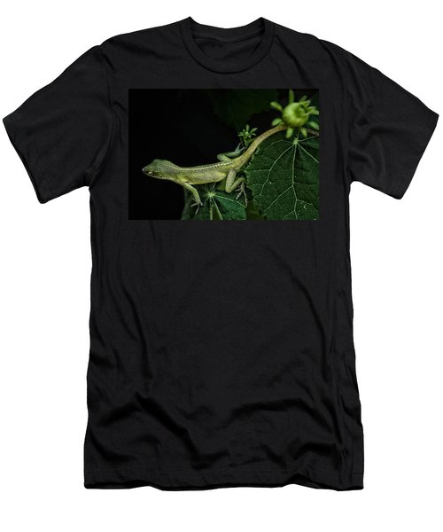 Men's T-Shirt (Slim Fit) featuring the mixed media Here Lizard Lizard by Kim Henderson