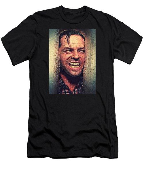 Here's Johnny - The Shining  Men's T-Shirt (Slim Fit) by Taylan Apukovska