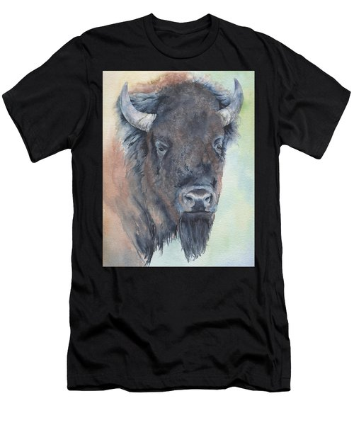 Here's Looking At You - Bison Men's T-Shirt (Athletic Fit)