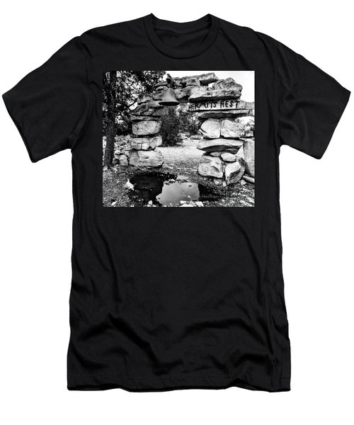 Hermit's Rest, Black And White Men's T-Shirt (Athletic Fit)