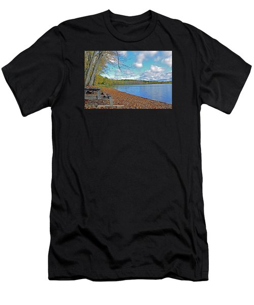 Fall Picnic In Maine Men's T-Shirt (Athletic Fit)