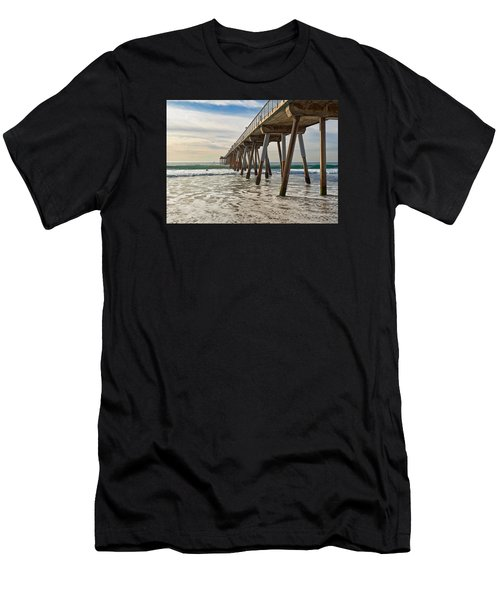 Men's T-Shirt (Athletic Fit) featuring the photograph Hermosa Under The Pier by Michael Hope