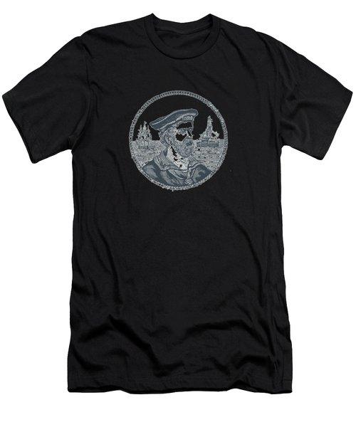 Hero Sea Captain - Nautical Design Men's T-Shirt (Athletic Fit)
