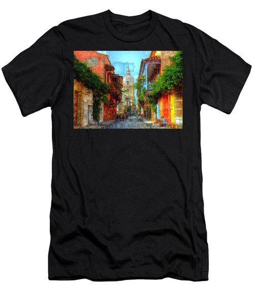 Heroic City, Cartagena De Indias Colombia Men's T-Shirt (Athletic Fit)