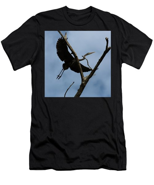 Heron Flight Men's T-Shirt (Athletic Fit)