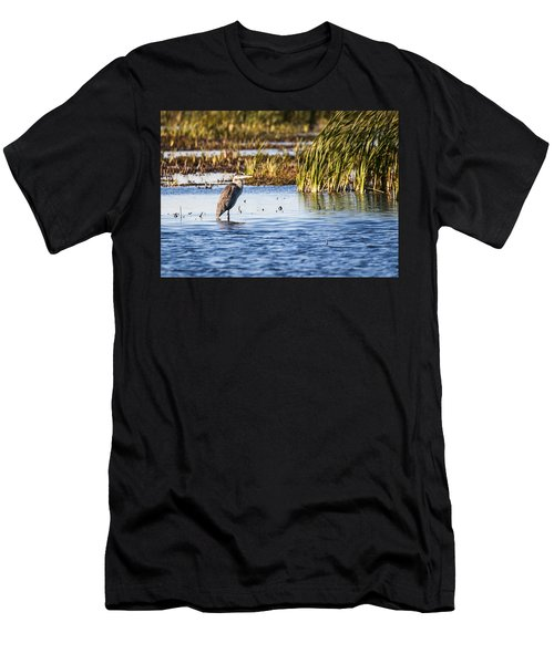 Heron - Horicon Marsh - Wisconsin Men's T-Shirt (Athletic Fit)