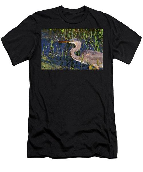 Heron Macro Men's T-Shirt (Athletic Fit)