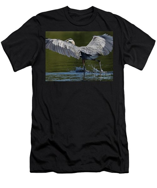Heron On The Run Men's T-Shirt (Athletic Fit)