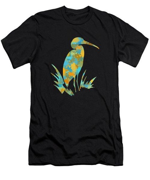 Heron Watercolor Art Men's T-Shirt (Athletic Fit)