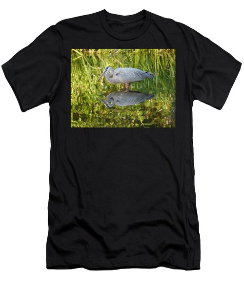 Heron's Reflection Men's T-Shirt (Athletic Fit)