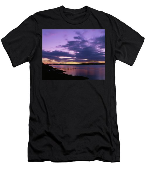 Herring Weir, Sunset Men's T-Shirt (Athletic Fit)