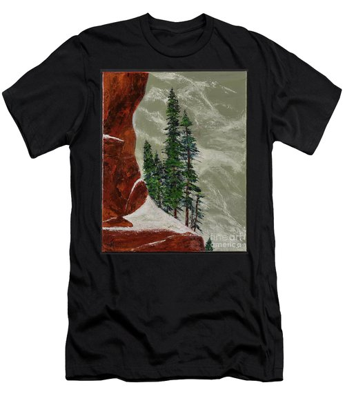Hi Mountain Pine Trees Men's T-Shirt (Athletic Fit)