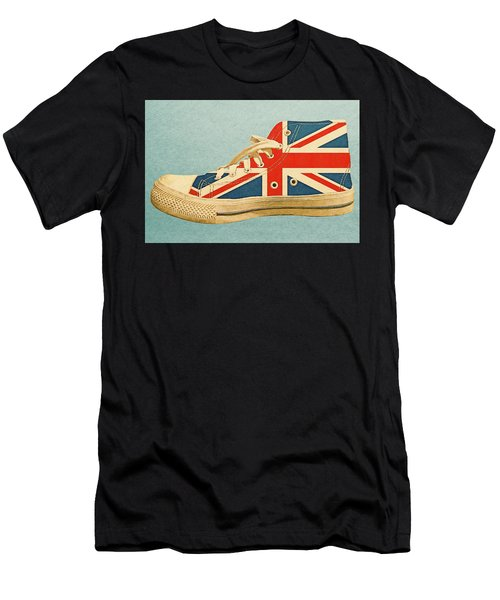 Men's T-Shirt (Athletic Fit) featuring the digital art Hi Top With England Flag by Anthony Murphy