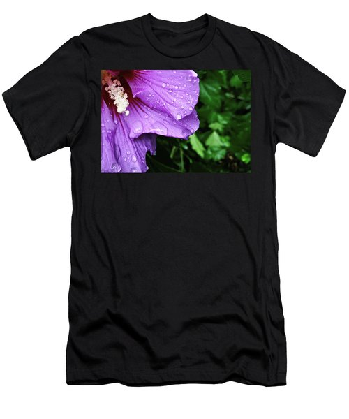 Men's T-Shirt (Athletic Fit) featuring the photograph Hibiscus Corner by Robert Knight