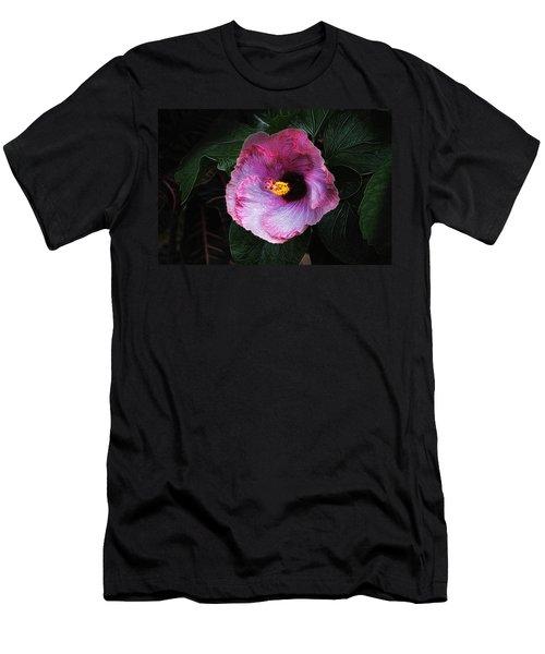 Hibiscus Flower Men's T-Shirt (Athletic Fit)