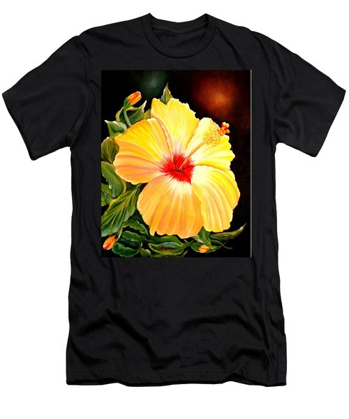 Hibiscus Glory Men's T-Shirt (Athletic Fit)