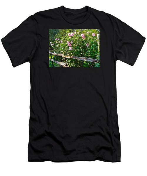 Hibiscus Hedge Men's T-Shirt (Slim Fit) by Randy Rosenberger