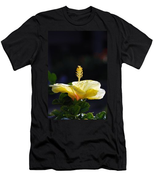 Men's T-Shirt (Slim Fit) featuring the photograph Hibiscus Morning by Debbie Karnes