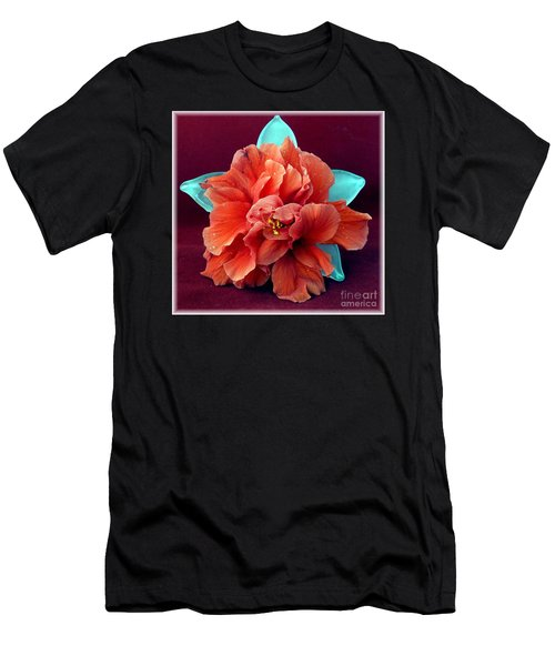 Hibiscus On Glass Men's T-Shirt (Athletic Fit)