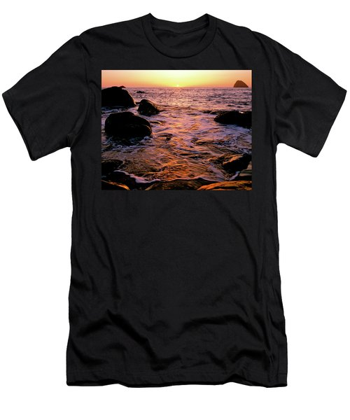 Hidden Cove Sunset Redwood National Park Men's T-Shirt (Athletic Fit)