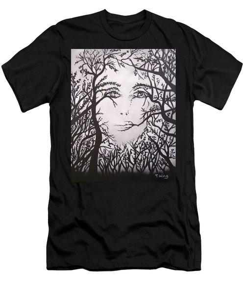 Hidden Face Men's T-Shirt (Athletic Fit)