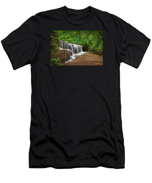 Men's T-Shirt (Athletic Fit) featuring the photograph Hidden Falls  by Rikk Flohr