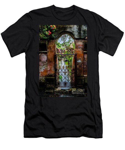 Men's T-Shirt (Athletic Fit) featuring the photograph Bali Gate by M G Whittingham